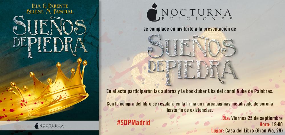Invitación presentación Madrid Sueños de piedra