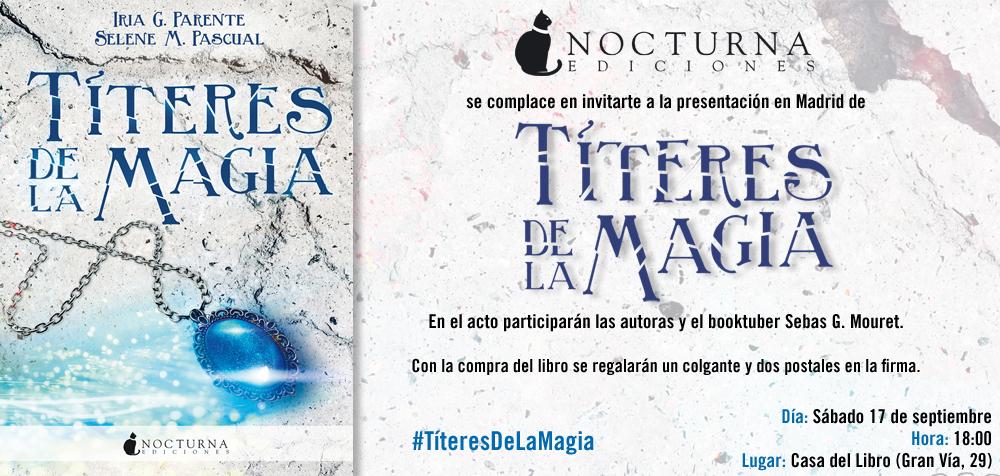 Invitación presentación Títeres de la magia MADRID